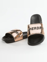 Superdry Slipper/Sandaal City Slide goud