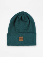 Urban Classics Beanie Leather Patch Long blauw