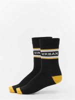 Urban Classics Chaussettes 2-Pack Logo Stripe Sport noir