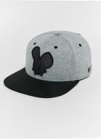 Who Shot Ya? Snapback Cap Logo grau
