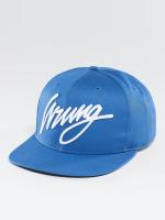 Wrung Division Snapback Caps Sigle niebieski