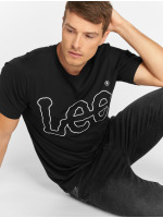 Lee T-skjorter Big Logo svart