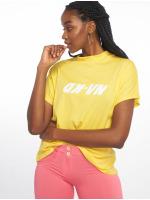 NA-KD T-Shirt High Neck gelb