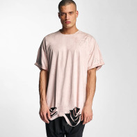 Sixth June bovenstuk / t-shirt Destroyed Overside Suede in rose