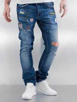 2Y Jean slim Patches bleu