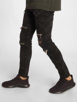2Y Jeans ajustado Camo negro