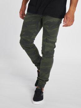 2Y Reisitaskuhousut Denim Cargo Jogger camouflage