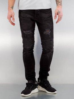 2Y Skinny Jeans Quilted black