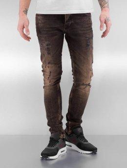2Y Skinny Jeans Used  brazowy