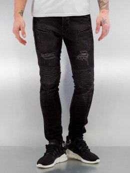 2Y Skinny Jeans Quilted czarny