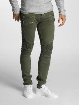 2Y Skinny jeans Savage olijfgroen