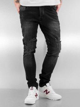 2Y Skinny Jeans Obbo schwarz