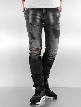 2Y Slim Fit -farkut Addison harmaa