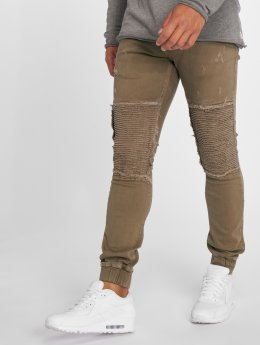 2Y Slim Fit Jeans Denim Jogger marrone