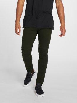 2Y Slim Fit Jeans Dio olijfgroen