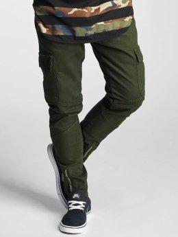 2Y Slim Fit Jeans Adres olijfgroen