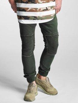 2Y Slim Fit Jeans Denim Jogger oliven