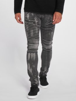 2Y Slim Fit Jeans Fatto zwart