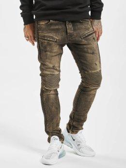 2Y Vaqueros pitillos Quilted  marrón