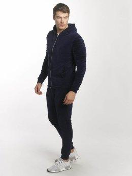 Aarhon Anzug Velour blau