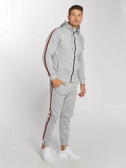Aarhon Anzug Coloured Stripes grau