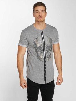 Aarhon Camiseta Skull  gris