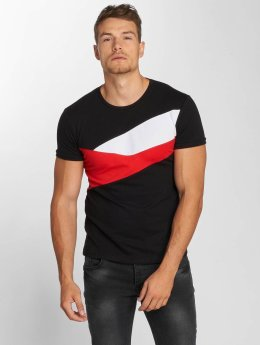 Aarhon Camiseta Stripes negro