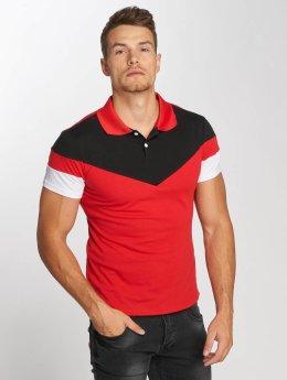 Aarhon Camiseta polo Tricolor rojo