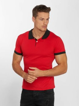 Aarhon Camiseta polo Basic rojo