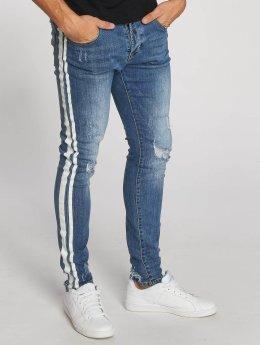 Aarhon dżinsy przylegające Stripes niebieski