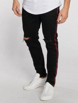 Aarhon Jean coupe droite Stripe noir
