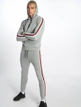 Aarhon Joggingsæt Classic Stripes grå