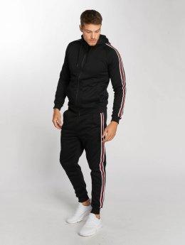 Aarhon Joggingsæt Coloured Stripes sort