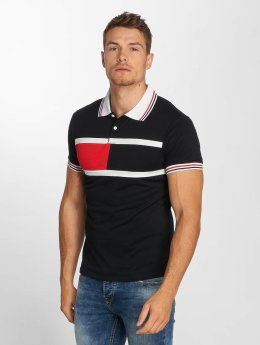 Aarhon Poloshirt Block Stripes black