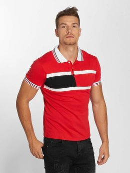 Aarhon Block Stripes Polo Shirt Red