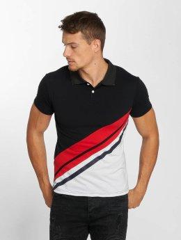 Aarhon Poloshirt Diagonal schwarz