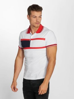 Aarhon poloshirt Block Stripes wit