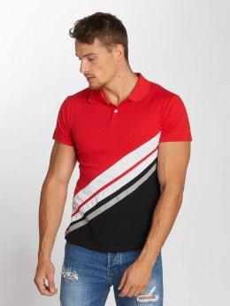 Aarhon Poloshirts Diagonal  rød