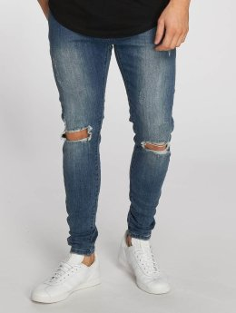 Aarhon Straight Fit Jeans Destroyed modrý