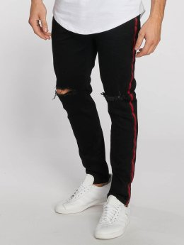 Aarhon Straight Fit Jeans Stripe schwarz