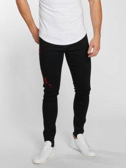 Aarhon Straight fit jeans Roze zwart