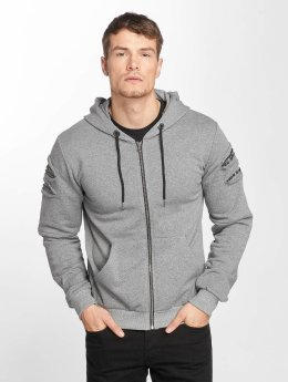Aarhon Sweat capuche zippé Rivet gris