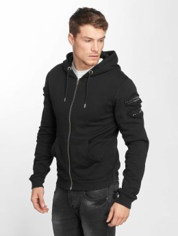 Aarhon Sweat capuche zippé Rivet noir