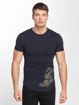 Aarhon T-Shirt Flower Print blau