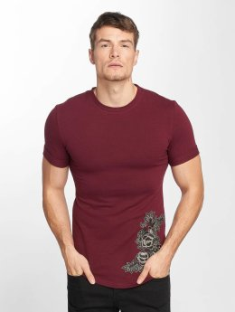 Aarhon Flower Print T-Shirt Bordeaux