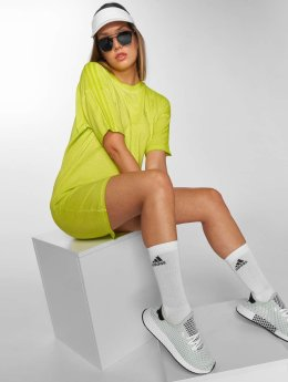 adidas Long Neon T-Shirt Dress Semi Solar Yellow