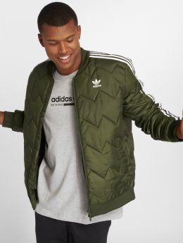 adidas originals Демисезонная куртка Sst Quilted оливковый