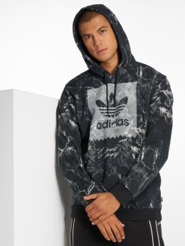 adidas originals Bluzy z kapturem Mrble Aop Hd czarny