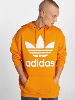 adidas originals Bluzy z kapturem Tref Over Hood pomaranczowy
