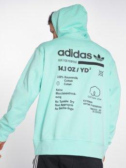 adidas originals Bluzy z kapturem Kaval Oth turkusowy